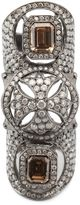 Loree Rodkin Maltese cross bondage diamond ring
