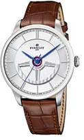 Perrelet First Class Double Rotor Men's Automatic Watch with White Dial Analogue Display and Brown Leather Strap A1090_1