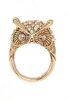 Forever 21 FOREVER 21+ Etched Owl Cocktail Ring