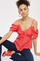 Topshop Volume sleeve bardot camisole top