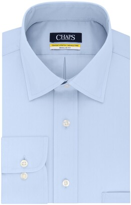 Chaps Mens Regular Fit Stretch Solid Dress Shirt
