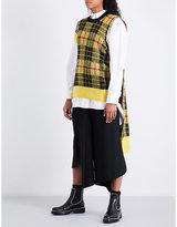 Junya Watanabe Cape-panel tartan wool-blend jacket