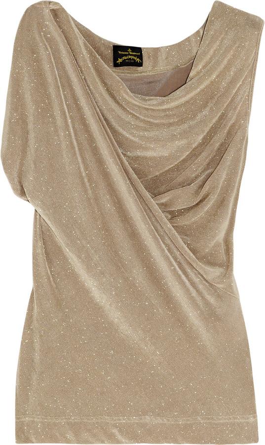 Vivienne Westwood Popcorn glittered stretch-jersey top
