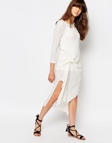 d.RA Cosmos Knot Front Dress