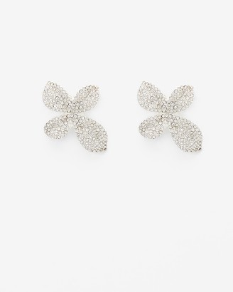 Express Floral Post Back Statement Earrings