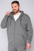 Yours Clothing SLAZENGER Grey Marl Zip Up Hoodie