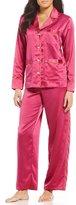Lauren Ralph Lauren Piped Satin Pajamas