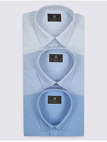 M&S Collection 3 Pack Easy to Iron Tailored Fit Shirts