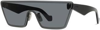 Loewe Rimless Trapezoid Shield Sunglasses