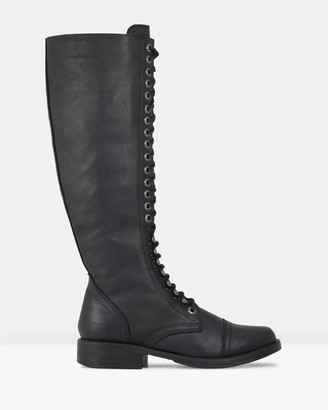 ROC Boots Australia - Women's Black Knee-High Boots - Fleet - Size One Size, 37 at The Iconic