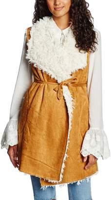 Somedays Lovin Women's Groover Waterfall Sherpa Vest Jacket