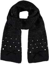 Kaleidoscope Pearl Trim Knitted Scarf