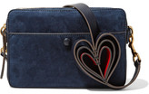 Anya Hindmarch Double Stack Nubuck And Leather Shoulder Bag - Midnight blue