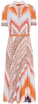 Missoni Stretch-silk knit midi dress