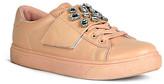 Refresh Pearl Rhinestone Banded Sneaker