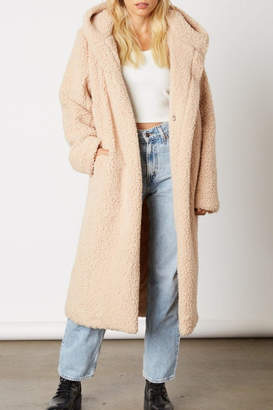 Cotton Candy Long Teddy Coat