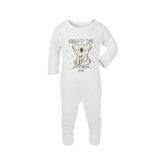 Personalised Valentines Day 2021 Gifts for Baby Purple Print House Baby Custom Koalas Mummy /& Name Romper Suit Cute Romper
