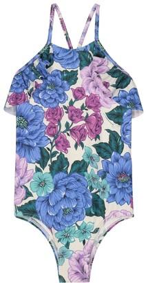 Zimmermann Kids Poppy ruffled floral swimsuit