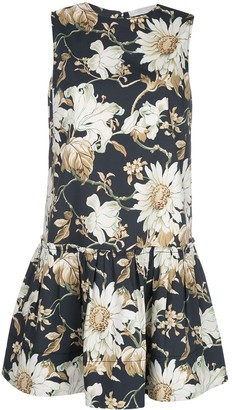 Oscar de la Renta Drop Waist Shift Dress