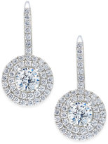 Arabella Swarovski Zirconia Circle Cluster Drop Earrings in Sterling Silver, Only at Macy's
