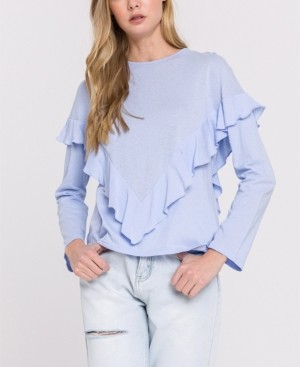 ENGLISH FACTORY Long Sleeves Ruffle Top