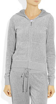 Juicy Couture Crystal-embellished velour hooded top