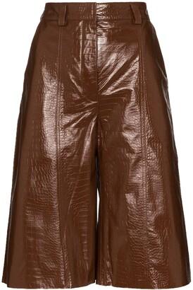 Dodo Bar Or Crocodile-Effect Culotte Shorts