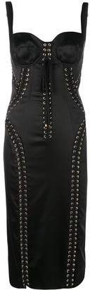 Dolce & Gabbana Lace-Up Bustier Dress