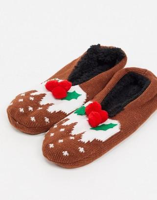 Brave Soul pom pom slipper socks