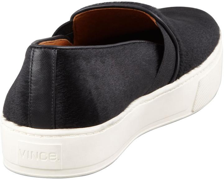 Vince Calf Hair Slip-On Sneaker