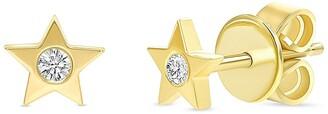 Ron Hami 14K Yellow Gold Diamond Star Shape Stud Earrings - 0.06 ctw