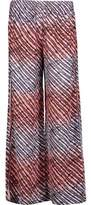 Vix Lice Printed Silk-Georgette Wide-Leg Pants