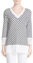 St. John Women's Sport Collection Pointelle Knit Sweater