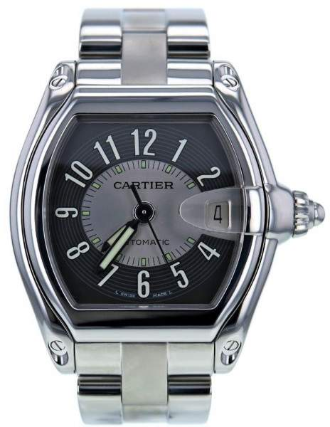 Cartier Roadster 2501 Stainless Steel Grey Dial 38mm Men's Watch