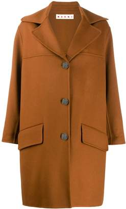 Marni loose fit single-breasted coat