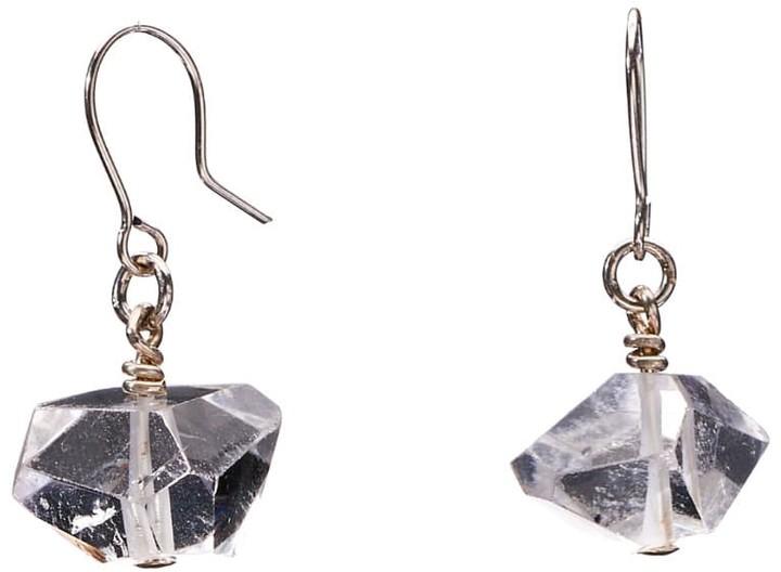 Large clear quartz earring,Large natural stone earring,big teardrop quartz earring,drop dangle earring,bezel set earring,custom jewelry card