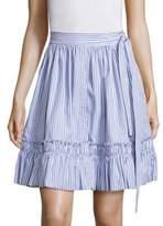 Alexis Laysa Striped Cotton Wrap Skirt