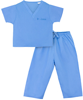 Princess Linens Blue Personalized Scrubs - Infant Toddler & Kids