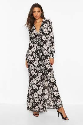 boohoo Tall Floral Print Maxi Dress