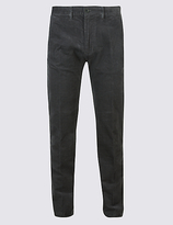 M&S Collection Straight Fit Corduroy Trousers with Stretch
