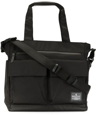 Makavelic Multi-Pocket Logo Tote Bag