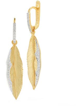 I. Reiss 14K 0.29 Ct. Tw. Diamond Dangling Earrings