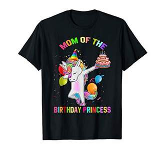 Womens Mom of the Birthday Princess Unicorn Outfit T-Shirt