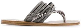 Brunello Cucinelli Bead-Embellished Sandals