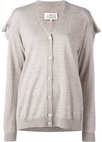 Maison Margiela draped back knit cardigan - women - Wool - XS