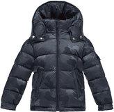 Moncler Maya Camo Puffer Coat, Navy, Size 4-6