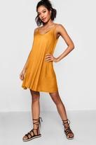 boohoo Dahlia Basic V Neck Swing Dress