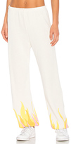 Wildfox Couture Wildfire Sweatpant in White. - size L (also in M,S,XS)