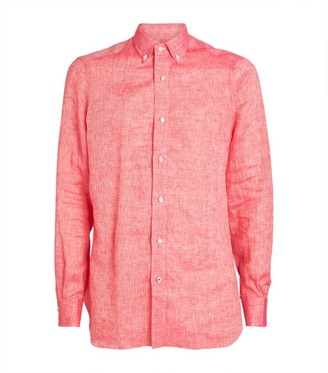 Isaia Linen Casual Shirt