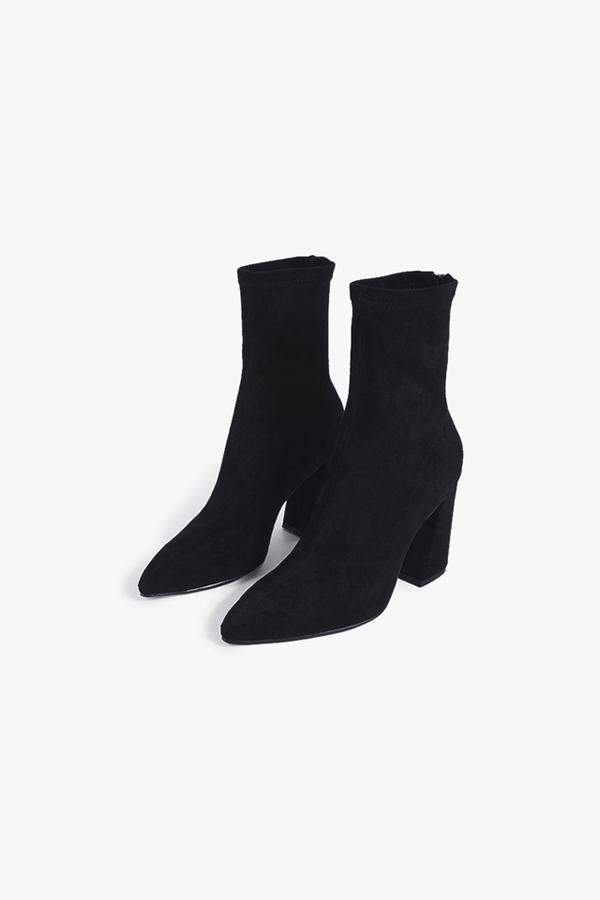 Genuine People Pointed Suede Boots
